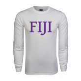 White Long Sleeve T Shirt-FIJI Two Color