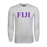White Long Sleeve T Shirt-FIJI Contemporary