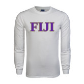 White Long Sleeve T Shirt-FIJI Contemporary Two Color