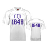 Replica White Adult Football Jersey-Arched FIJI