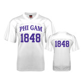 Replica White Adult Football Jersey-Arched Phi Gam