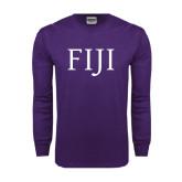 Purple Long Sleeve T Shirt-FIJI