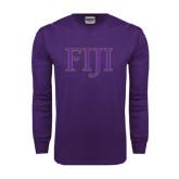 Purple Long Sleeve T Shirt-FIJI Two Color