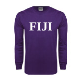Purple Long Sleeve T Shirt-FIJI Contemporary