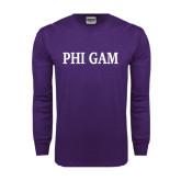 Purple Long Sleeve T Shirt-Phi Gam