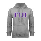 Grey Fleece Hoodie-FIJI Contemporary