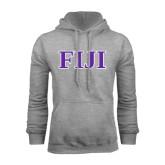 Grey Fleece Hoodie-FIJI Contemporary Two Color