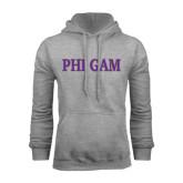 Grey Fleece Hoodie-Phi Gam Two Color