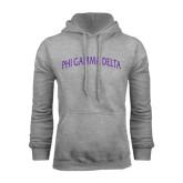 Grey Fleece Hoodie-Arched Phi Gamma Delta