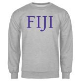 Grey Fleece Crew-FIJI