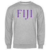 Grey Fleece Crew-FIJI Two Color