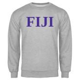 Grey Fleece Crew-FIJI Contemporary