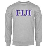 Grey Fleece Crew-FIJI Contemporary Two Color