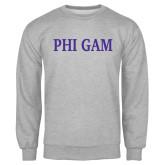 Grey Fleece Crew-Phi Gam
