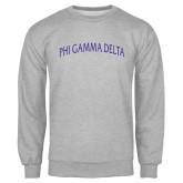 Grey Fleece Crew-Arched Phi Gamma Delta
