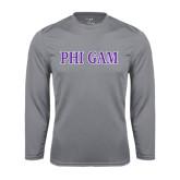 Performance Steel Longsleeve Shirt-Phi Gam Two Color