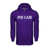 Under Armour Purple Performance Sweats Team Hoodie-Phi Gam