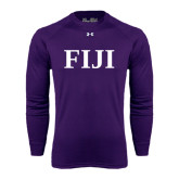 Under Armour Purple Long Sleeve Tech Tee-FIJI Contemporary