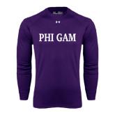 Under Armour Purple Long Sleeve Tech Tee-Phi Gam