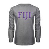 Grey Long Sleeve T Shirt-FIJI