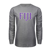 Grey Long Sleeve T Shirt-FIJI Two Color
