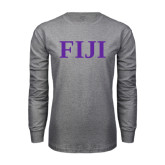 Grey Long Sleeve T Shirt-FIJI Contemporary