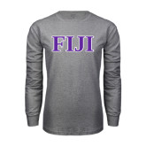 Grey Long Sleeve T Shirt-FIJI Contemporary Two Color