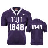 Replica Purple Adult Lacrosse Jersey-Arched FIJI