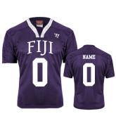 Replica Purple Adult Lacrosse Jersey-Arched FIJI Personalized