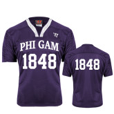 Replica Purple Adult Lacrosse Jersey-Arched Phi Gam