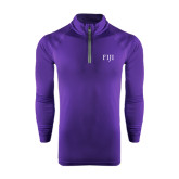 Under Armour Purple Tech 1/4 Zip Performance Shirt-FIJI