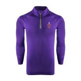 Under Armour Purple Tech 1/4 Zip Performance Shirt-Crest