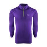 Under Armour Purple Tech 1/4 Zip Performance Shirt-FIJI Two Color