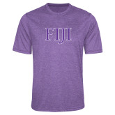 Performance Purple Heather Contender Tee-FIJI Two Color