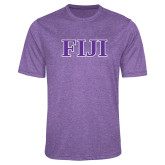 Performance Purple Heather Contender Tee-FIJI Contemporary Two Color