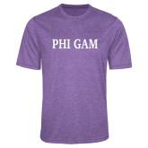 Performance Purple Heather Contender Tee-Phi Gam