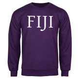 Purple Fleece Crew-FIJI