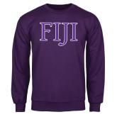 Purple Fleece Crew-FIJI Two Color