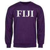 Purple Fleece Crew-FIJI Contemporary