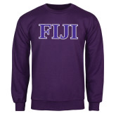Purple Fleece Crew-FIJI Contemporary Two Color