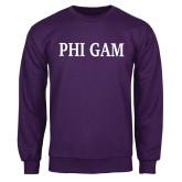 Purple Fleece Crew-Phi Gam