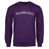 Purple Fleece Crew-Arched Phi Gamma Delta