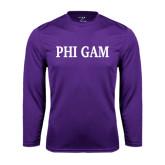Performance Purple Longsleeve Shirt-Phi Gam