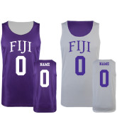 Purple/White Reversible Tank-Arched FIJI Personalized