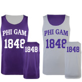 Purple/White Reversible Tank-Arched Phi Gam