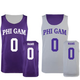 Purple/White Reversible Tank-Arched Phi Gam Personalized