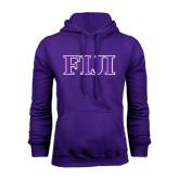 Purple Fleece Hoodie-FIJI Contemporary Two Color