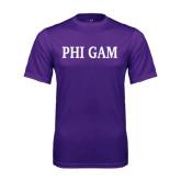 Performance Purple Tee-Phi Gam