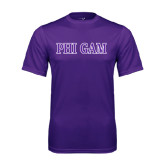 Performance Purple Tee-Phi Gam Two Color