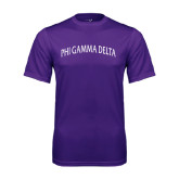 Performance Purple Tee-Arched Phi Gamma Delta
